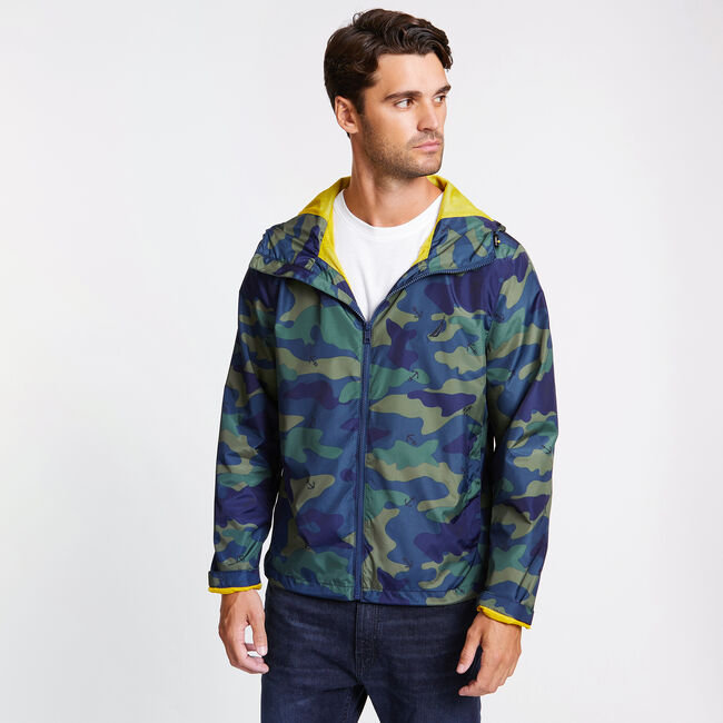 Camo + Anchor Full-Zip Jacket,Ensign Blue,large