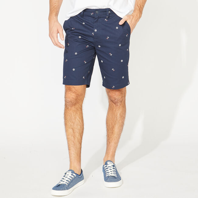"""9.5"""" SLIM FIT ANCHOR AND WHEEL PRINTED SHORTS,True Navy,large"""