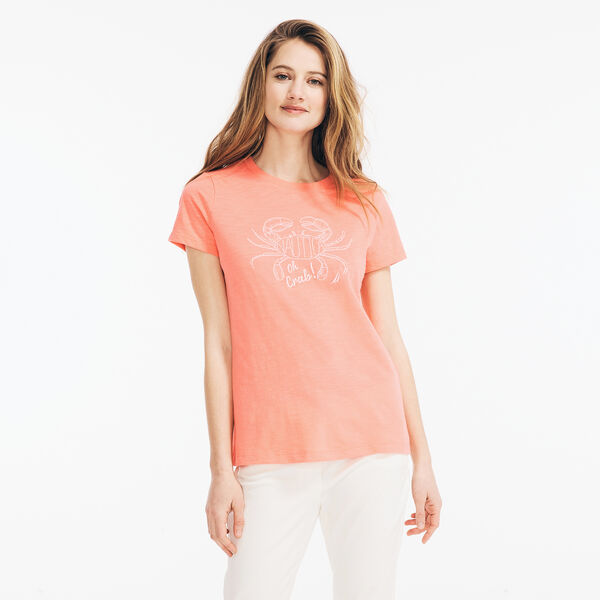 OH CRAB GRAPHIC T-SHIRT - Sugar Coral