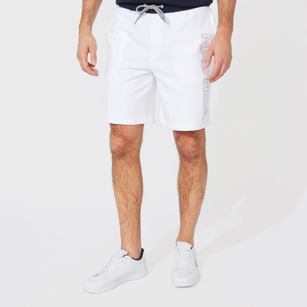 LOGO KNIT SHORTS - Bright White