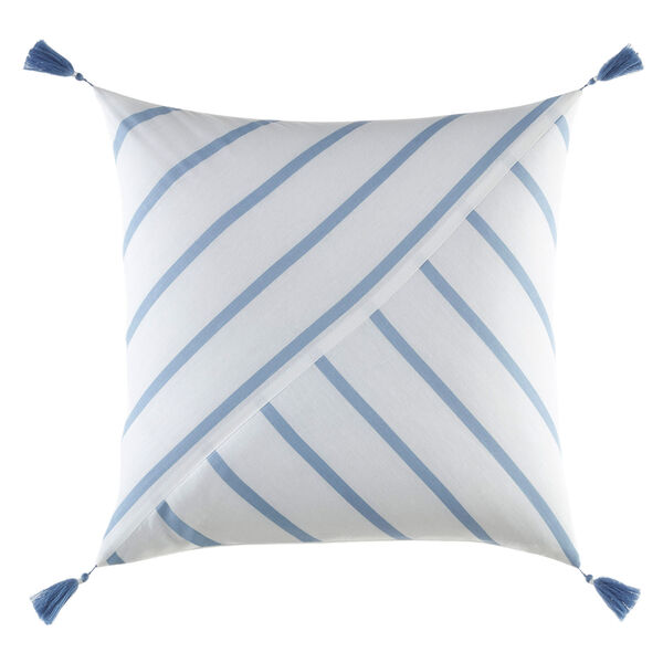 Norwich Striped Throw Pillow - Azure Blue
