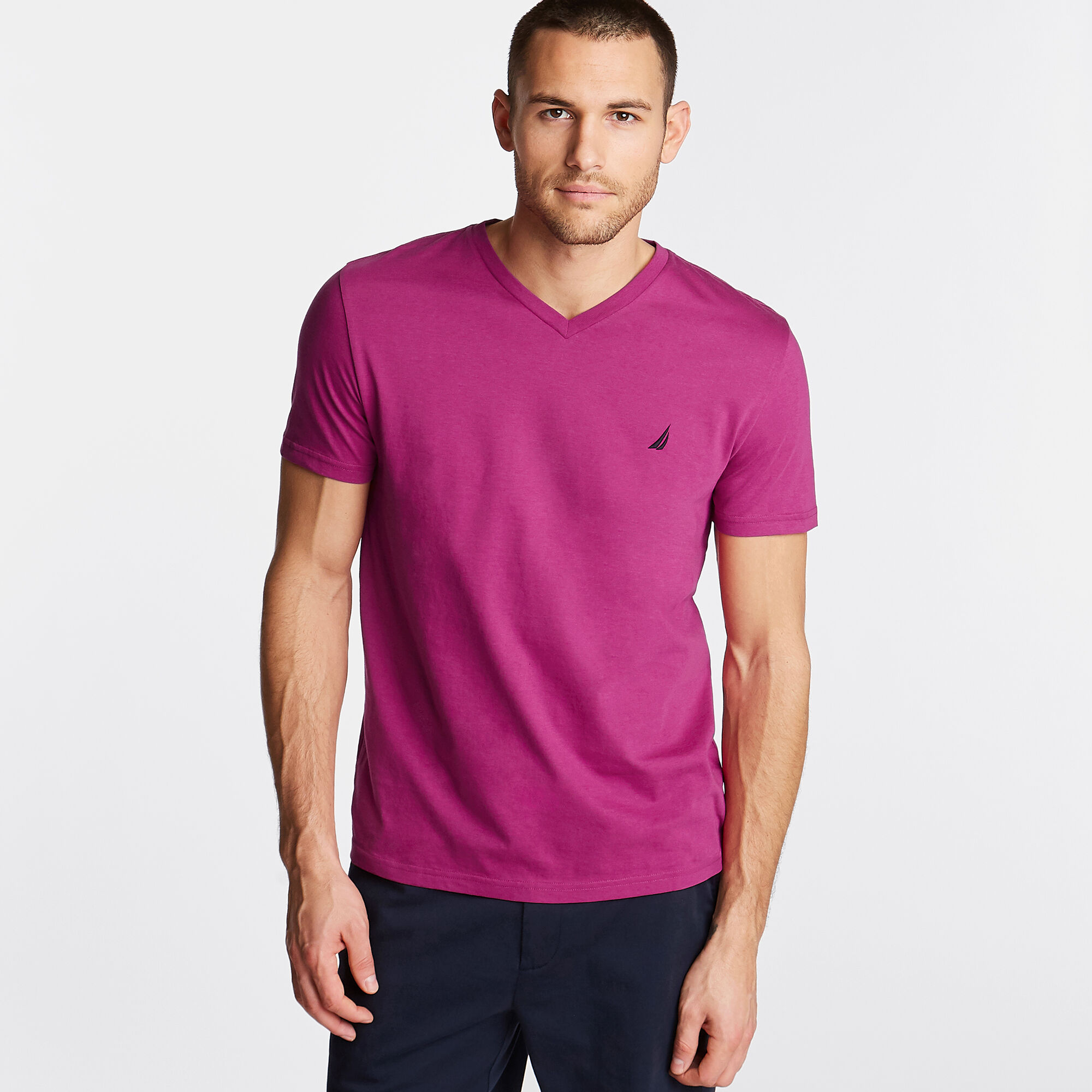 Nautica-Mens-V-Neck-Short-Sleeve-T-Shirt thumbnail 11