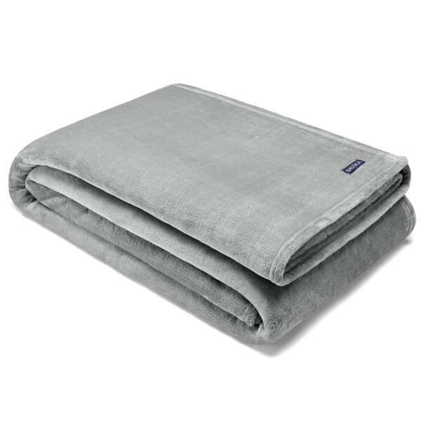 FLAGSTONE ULTRA SOFT PLUSH KING BLANKET - Grey Heather