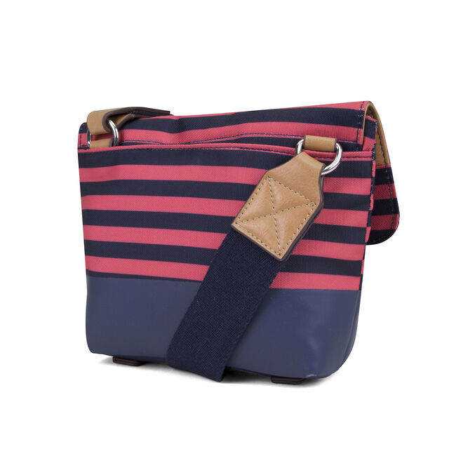 Modern Trail Flap Striped Crossbody,Flare Red,large
