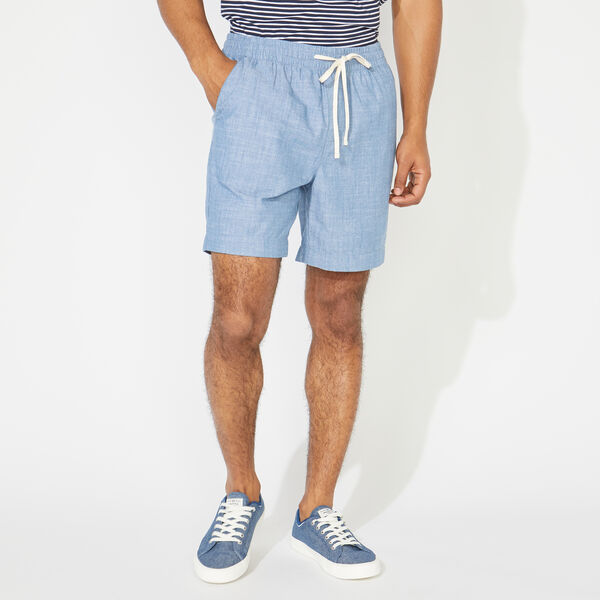 BIG & TALL KNIT SHORT - Blue Stern