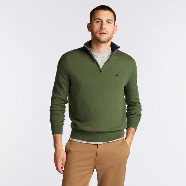 QUARTER ZIP NAVTECH SWEATER - Pineforest