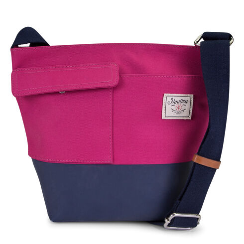 Mainlander Colorblock Crossbody - Barely Pink