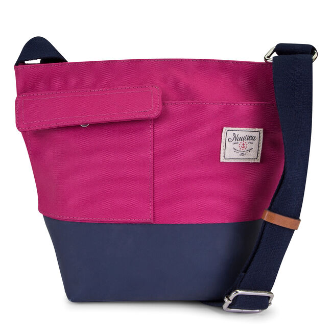 Mainlander Colorblock Crossbody,Barely Pink,large