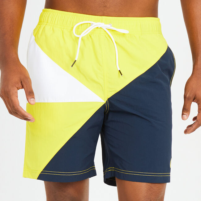 Quick-Dry Triangle N '83 Swim Trunks,Canary,large