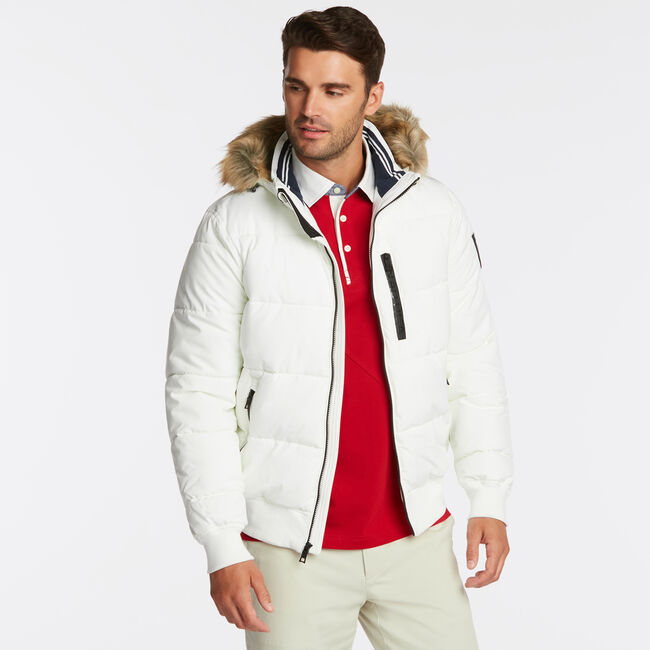 STRETCH BOMBER WITH REMOVABLE HOOD,Twig,large