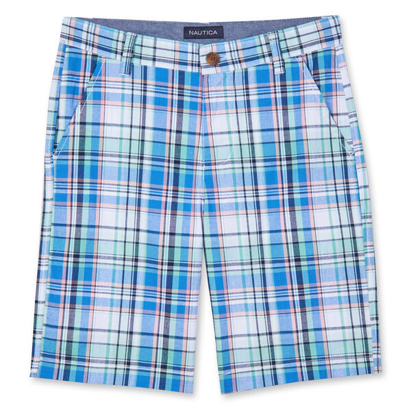 LITTLE BOYS' TRISTAN PLAID SHORTS (4-7) - Antique White Wash