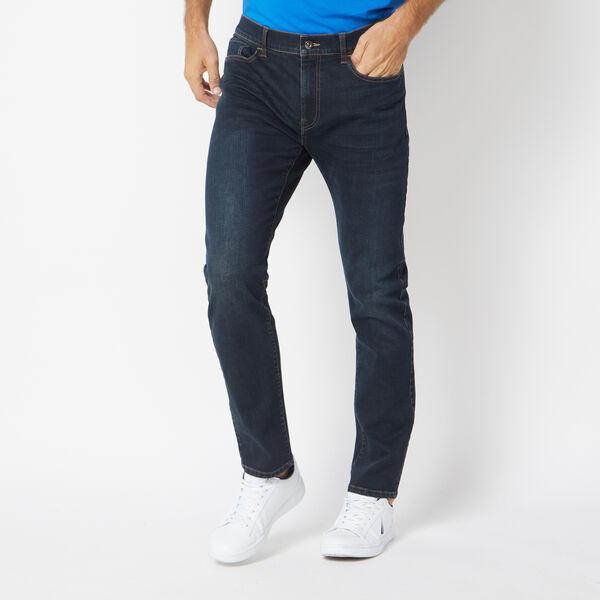 STRETCH SLIM FIT DENIM IN HAZE BLUE WASH - Marine Blue