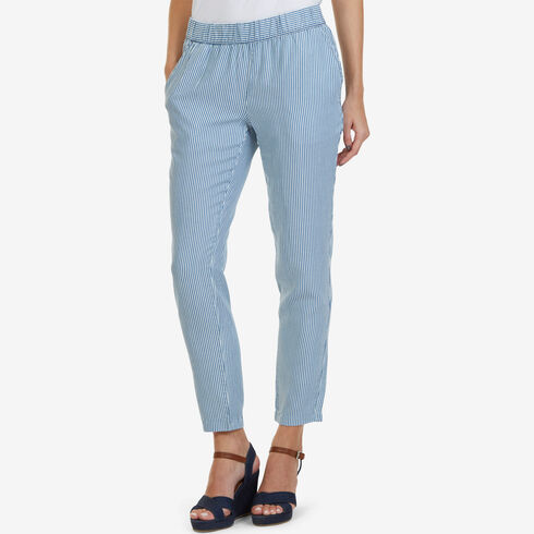 Railroad Stripe Soft Pants - Ballard Blue