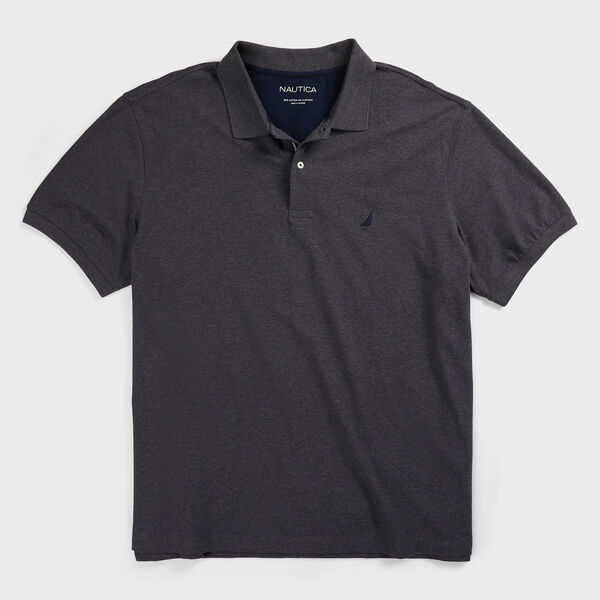 BIG & TALL CLASSIC FIT DECK POLO - Charcoal Heather