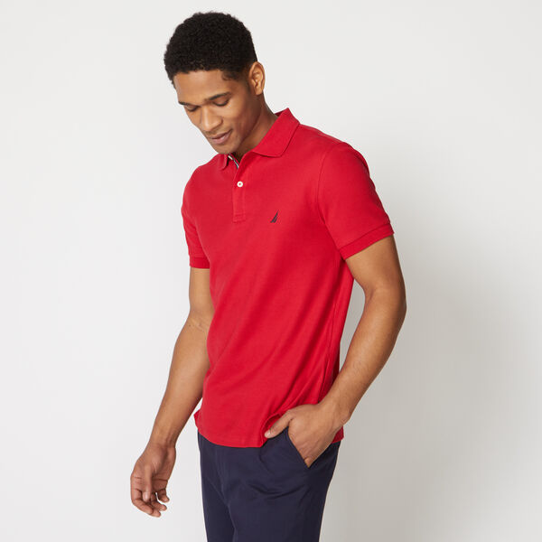 SLIM FIT PERFORMANCE POLO - Nautica Red