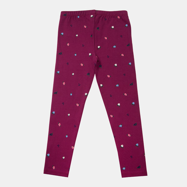 LITTLE GIRLS' MINI FLORAL PRINT LEGGING (4-7) - Parfait Pink
