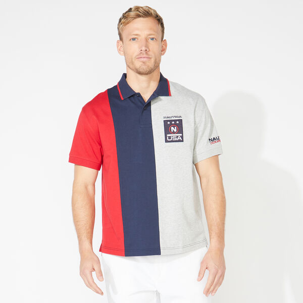 COMPETITION COLORBLOCK POLO - Navy