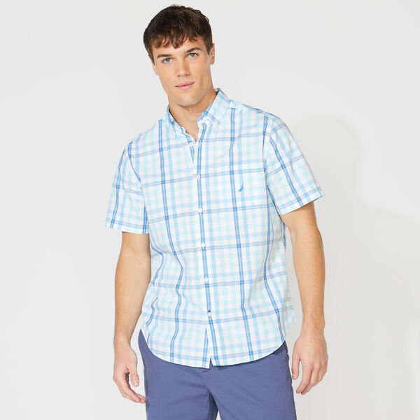 SHORT SLEEVE MULTICOLOR PLAID SHIRT - Aquadream