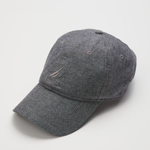 J-CLASS EMBROIDERED CAP - Heather Grey