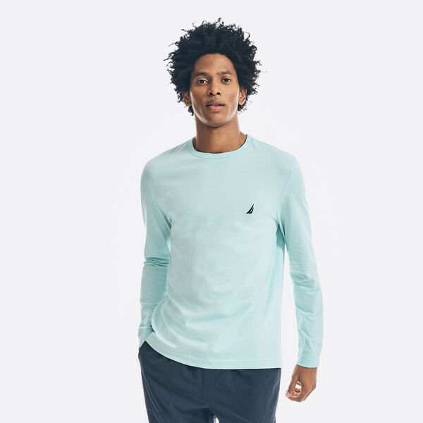 CREWNECK LONG SLEEVE T-SHIRT - Harbor Mist
