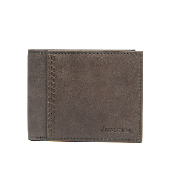 Claudio Fixed Passcase Wallet - Radial Grey