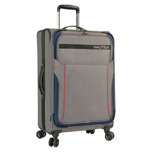 """Naval Yard 24"""" Expandable Spinner Luggage,Charcoal Hthr,large"""