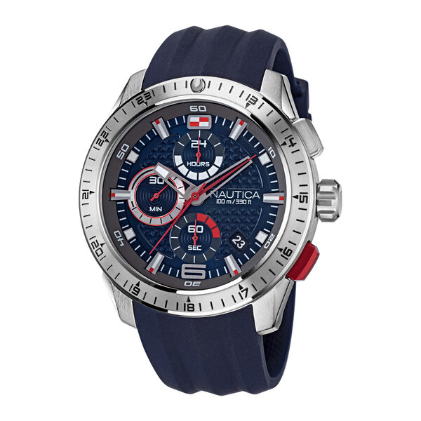 NST 101 STAINLESS STEEL AND SILICONE WATCH - Multi