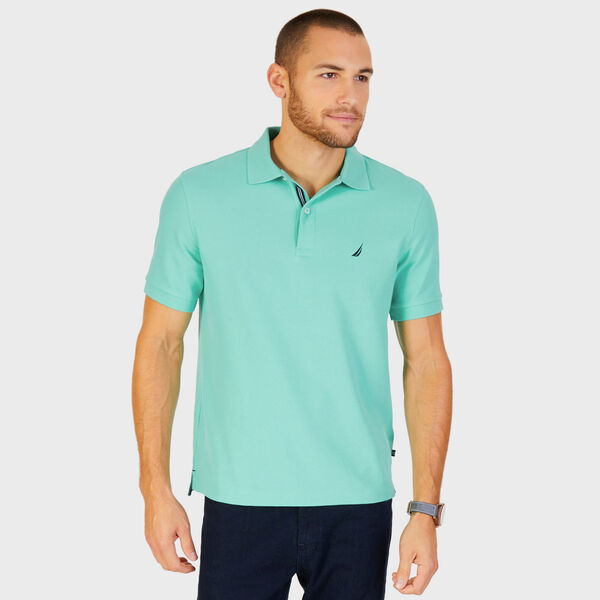 Short Sleeve Performance Deck Polo Shirt  - Mint Spring