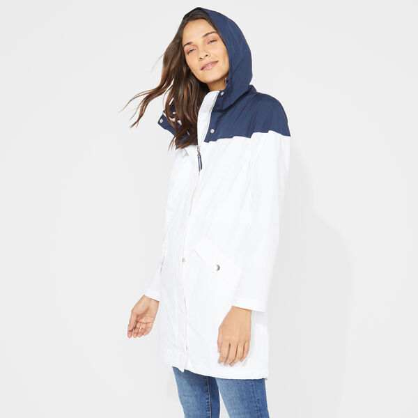 SIGNATURE COLORBLOCK RAINBREAKER JACKET - Bright White