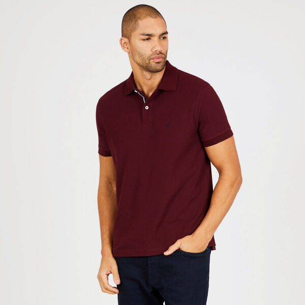 Short Sleeve Classic Fit Deck Polo - Royal Burgundy