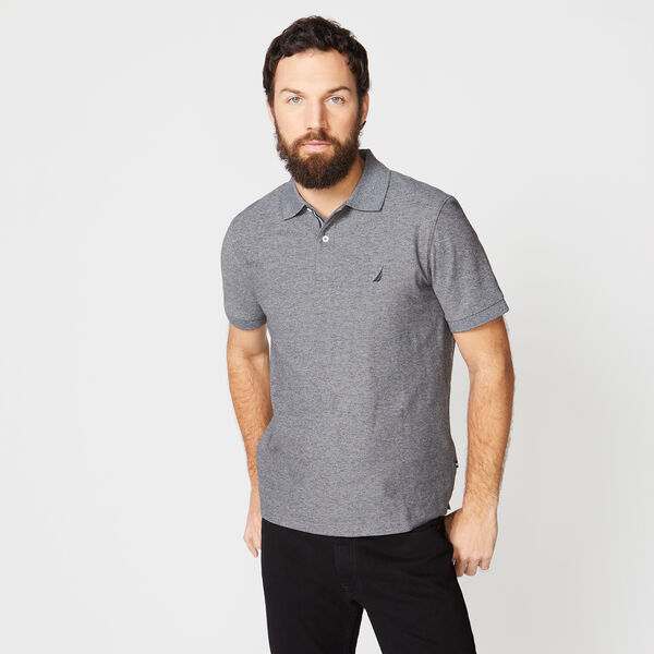 CLASSIC FIT PERFORMANCE MESH POLO - Charcoal Heather
