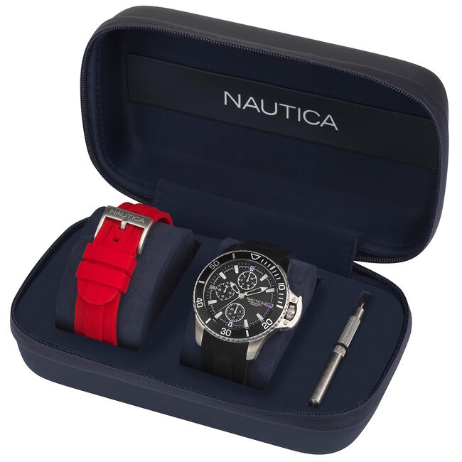 Bayside Watch Gift Set with Sport Strap,Multi,large