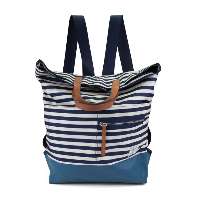 Mainlander Striped Backpack,Ice Blue,large