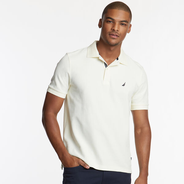 CLASSIC FIT PERFORMANCE DECK POLO - Sail Cream