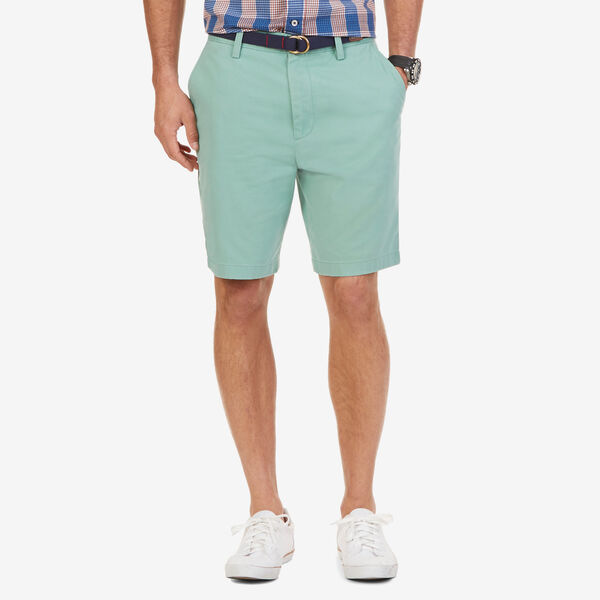Big & Tall Flat Front Classic Fit Shorts - Fin Green