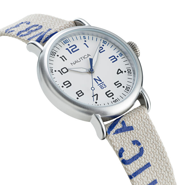 N83 LOVES THE OCEAN LOGO-EMBELLISHED SUSTAINABLE WATCH,Multi,large
