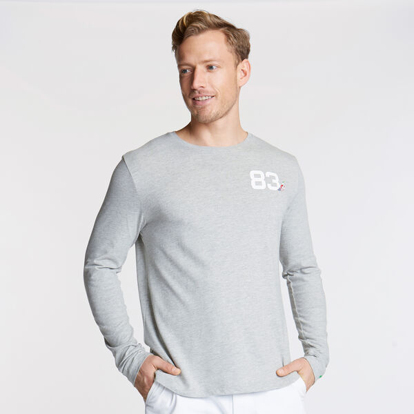 Long Sleeve International Graphic T-Shirt - Grey Heather