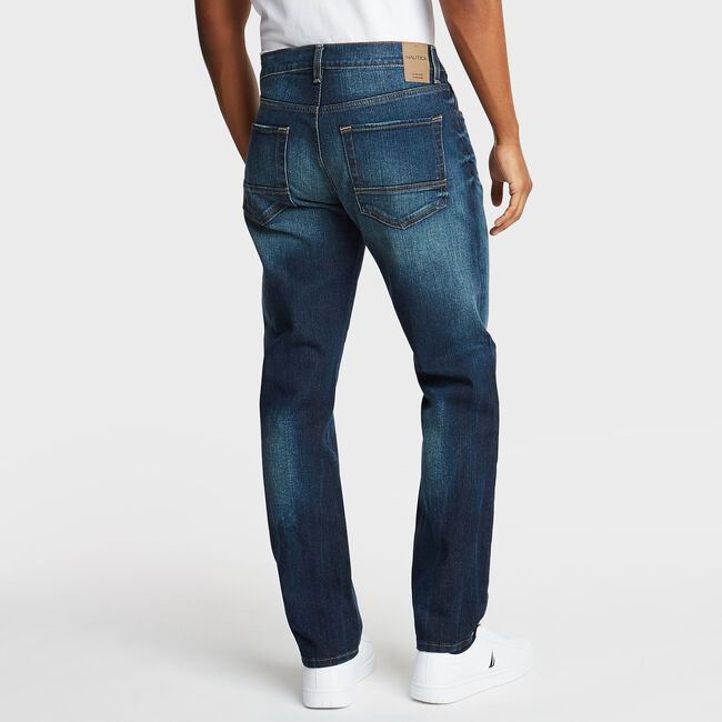 Athletic Fit Jeans,Rolling River Wash,large