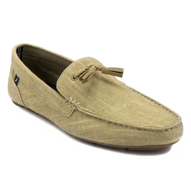 Weldin Canvas Slip-On Loafers,Military Tan,large