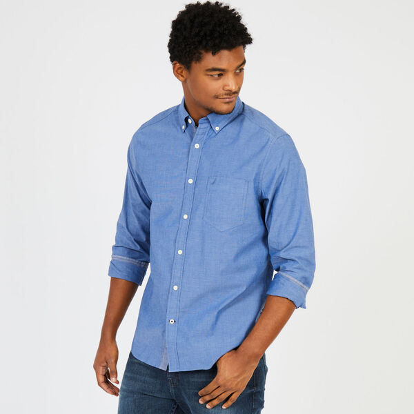Soft Wash Long Sleeve Classic Fit Shirt - Riviera Blue