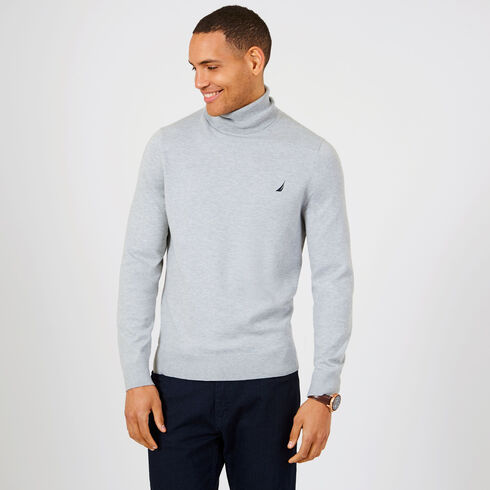 Navtech Jersey Turtleneck Sweater - Grey Heather