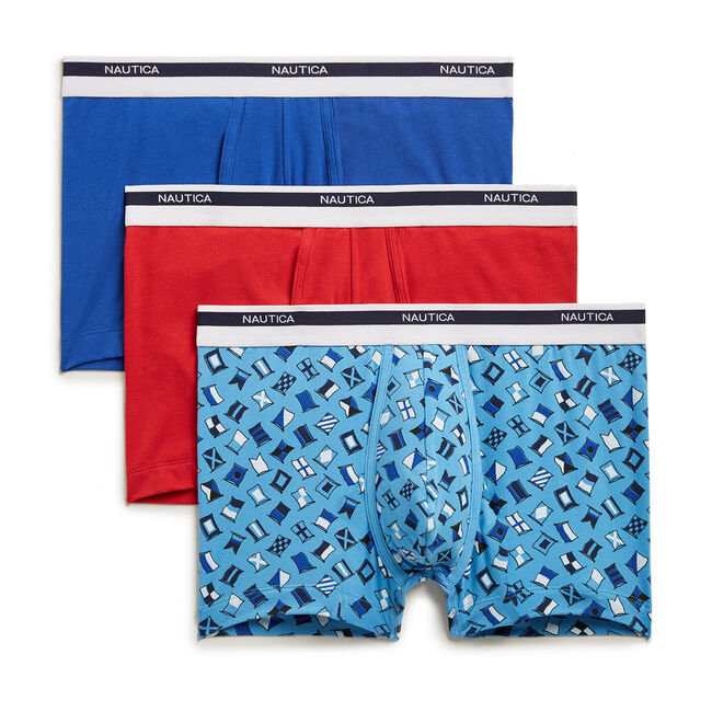 Stretch Trunks, 3-Pack,Naval Blue,large