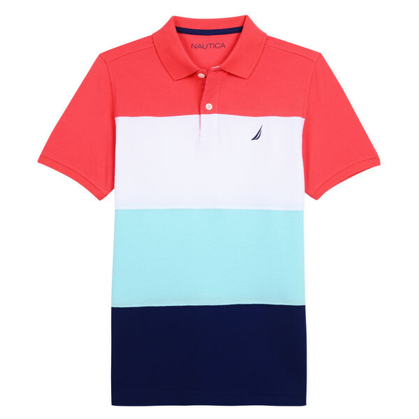 BOYS' MARTIN POLO IN COLORBLOCK - Camellia Rose