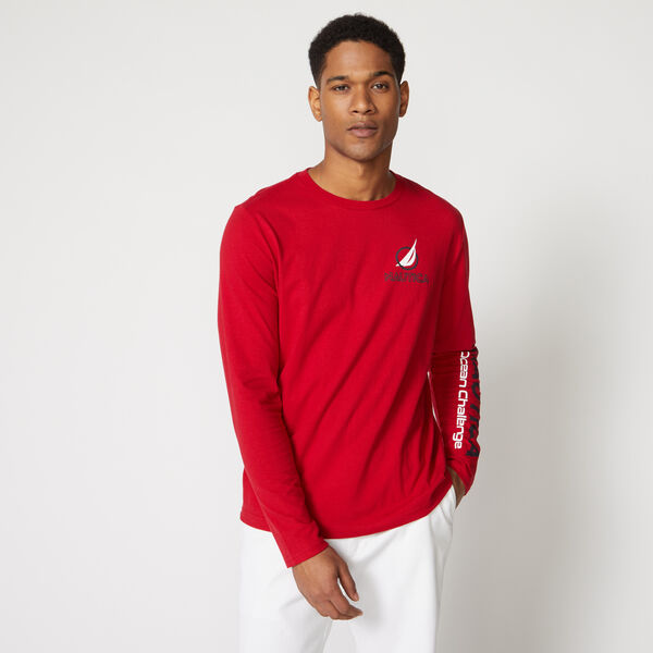 NS-83 OCEAN CHALLENGE LONG SLEEVE T-SHIRT - Nautica Red