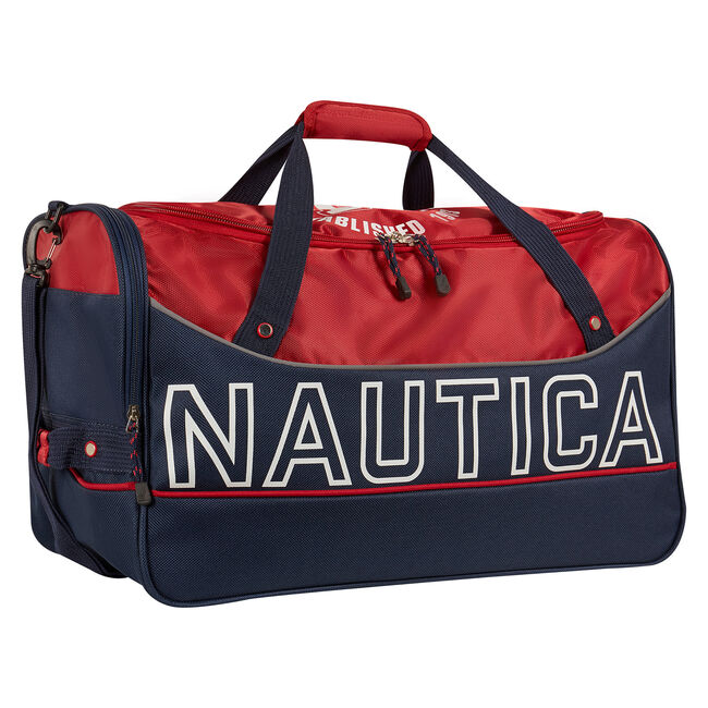 "Chronometer 22"" Wheeled Duffel,Nautica Red,large"