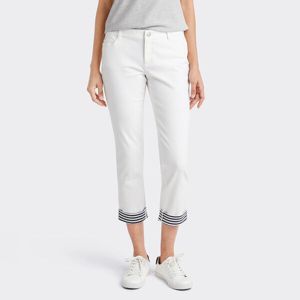 Stripe Cuff Pants - Sail White