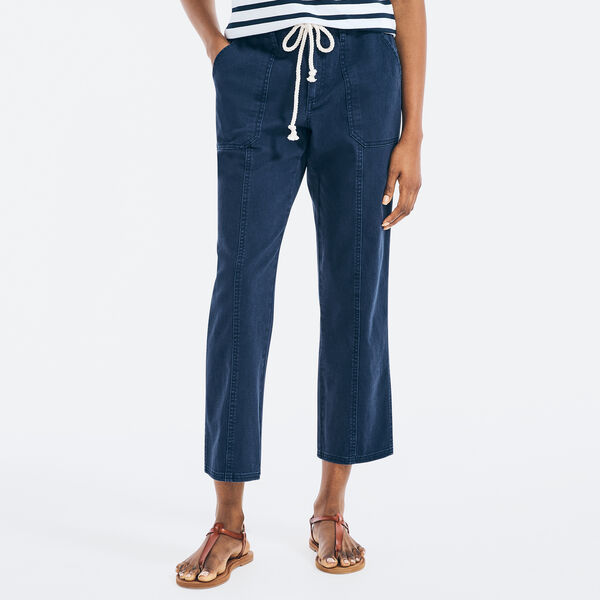 RELAXED FIT DRAWCORD PANT - Stellar Blue Heather