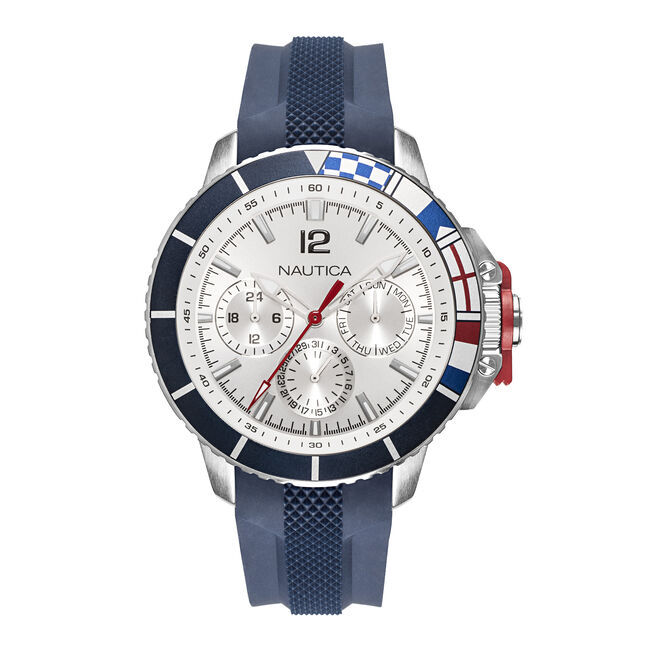 BAY WHITE DIAL SPORT WATCH,Multi,large