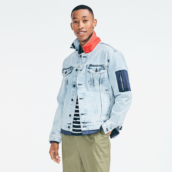 NAUTICA JEANS CO. DENIM JACKET - Castaway Aqua
