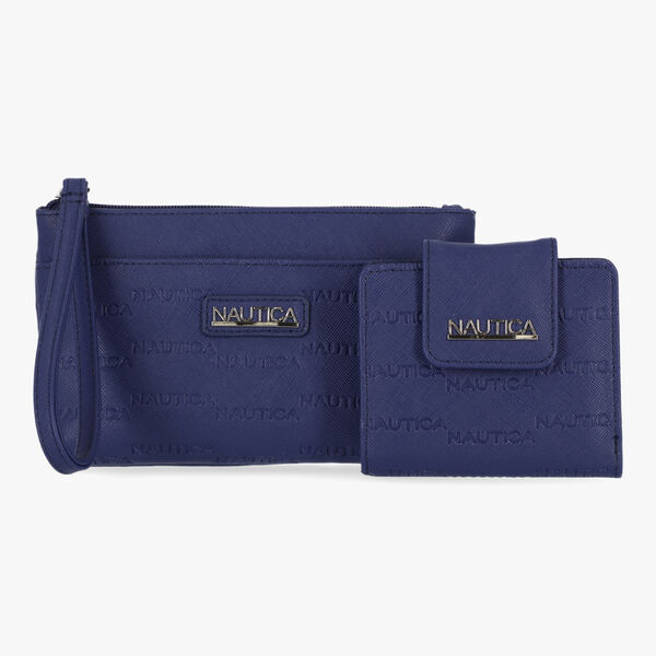 LOGO EMBOSSED GIFT SET WITH BOX - Navy